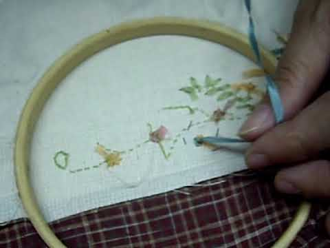 Ribbon Embroidery-Loop stitch