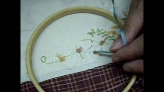 Ribbon Embroidery緞帶刺繡Loop stitch