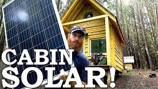 SOLAR POWER at the Cabin (Off Grid!) | Cabin Wildlife, Deer Archery Season Prep