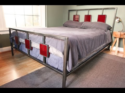 Metal Bedroom Furniture | Metal and Glass Bedroom Furniture - YouTube