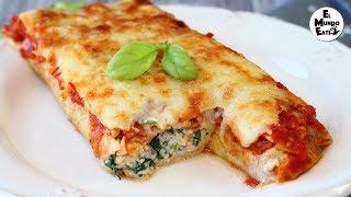 Ricotta and Spinach Crepe Cannelloni