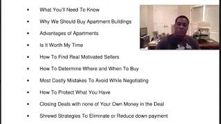 Pt 1 Why Apartment Investing Should Be Your Main Focus!
