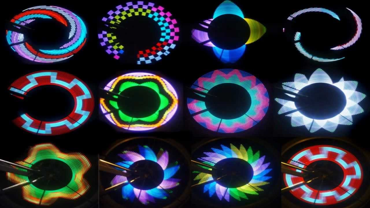 Shining as well as riding with Colorful Rainbow LED Wheel ...