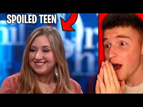 RICH SPOILED BRAT THROWS A FIT ON LIVE TV