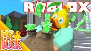 DUCK IS A BANK ROBBER! - Roblox Crazy Bank Heist Obby