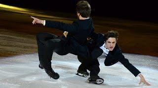 "Alexander Liubchenko, Jean-Denis Sanchis and Adelina Sotnikova ""Kings On Ice"" Bratislava 2016"