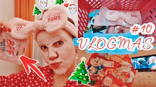 VLOGMAS 10🌲BEAUTY BOMB Полный КосметоС..Годно?Стремно? Киндер Адвент / Смотрим Гарри Поттера