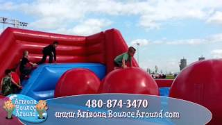Inflatable Wipeout Obstacle Course Rental Az, Ca