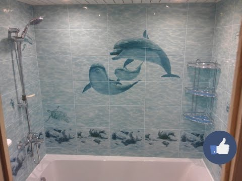 Ванная комната 1.70 Х 1.50 с красивыми панно и декорами в Электростали