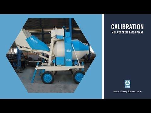 Calibration of mini concrete mixer