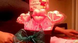 Bouquet de paletas de chocolate para el dia del amor y la amistad
