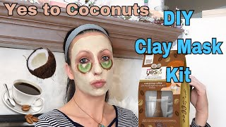Yes to Coconuts 🥥 Energizing Coffee  Powder to Clay DIY Mask Kit : Ultra Hydrating