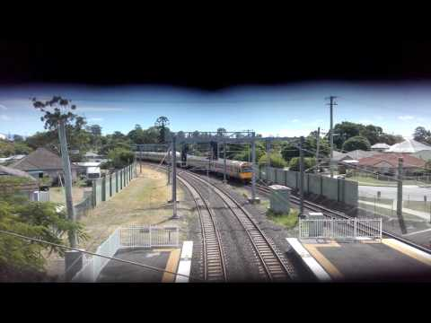 Queensland rail IMU???-??? Passing bald hills station for a roma street express service