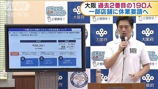 大阪で過去2番目の190人感染 福岡は過去最多121人(20/07/31) - YouTube