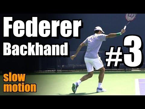 Roger Federer in Super Slow Motion | Backhand #3 | Western & Southern Open 2014