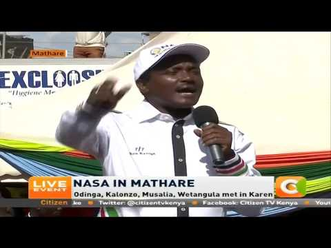 NASA will run its own tallying centre and a biometric system, Kalonzo