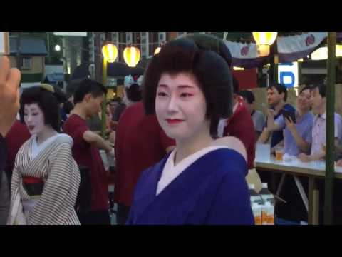 Ep. 5 #Geishaspotting: #Geisha serving drinks at the Gion Festival in #Kyoto, #Japan Part 2