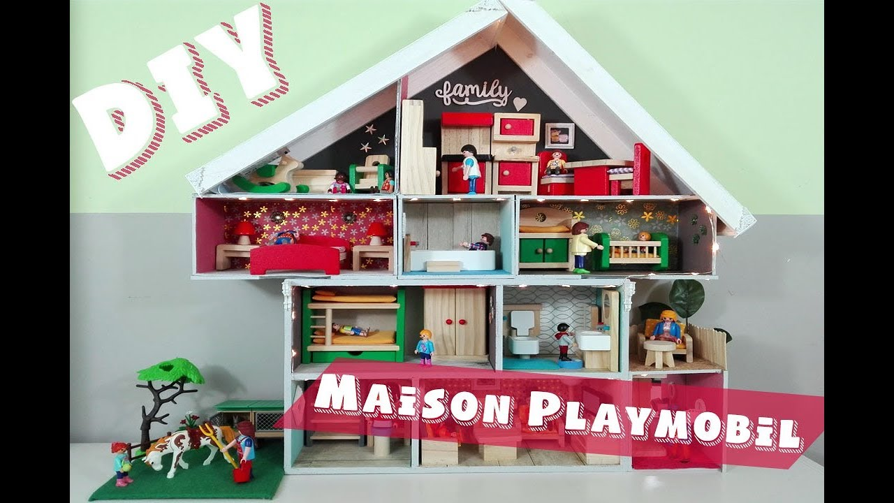 comment faire une maison de playmobil facile youtube. Black Bedroom Furniture Sets. Home Design Ideas