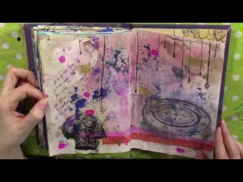 Art journal. Mixed media en français