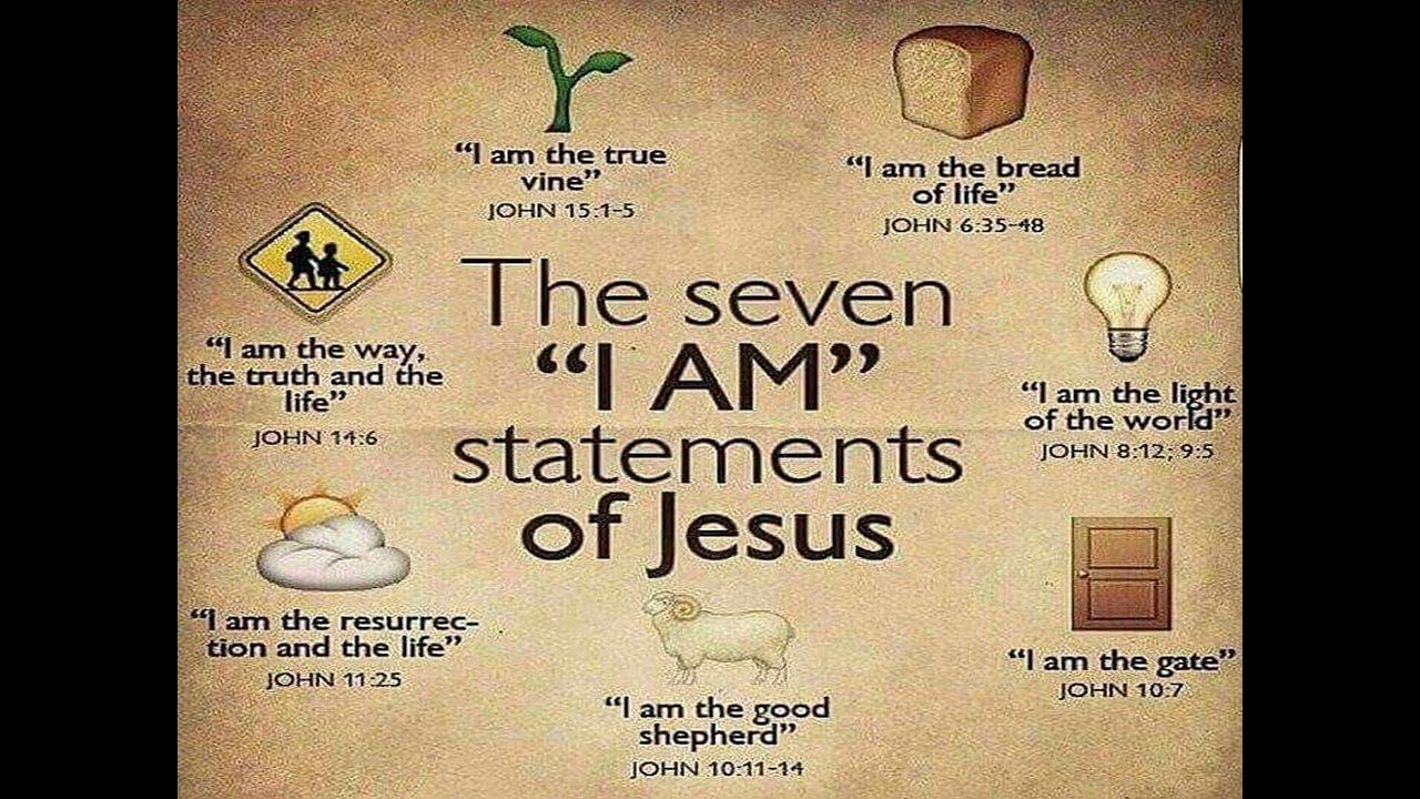 "the 7 i ams of john The gospel of john gives us a marvelous and glorious picture of who jesus  christ is through his seven ""i am"" claims sermons / i am sermon."