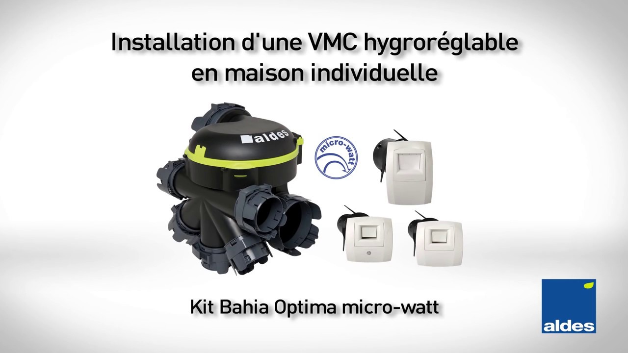 installation vmc hygro bahia optima microwatt aldes youtube. Black Bedroom Furniture Sets. Home Design Ideas
