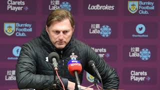 Burnley 1, Southampton 1: Ralph Hasenhüttl post match press conference