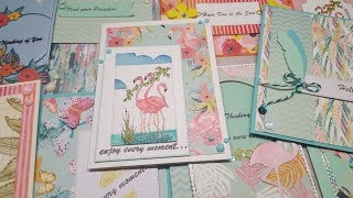 10 Cards 1 Kit Crafty Ola 39 s Card kit of the Month 39 39 Paradise 39 39