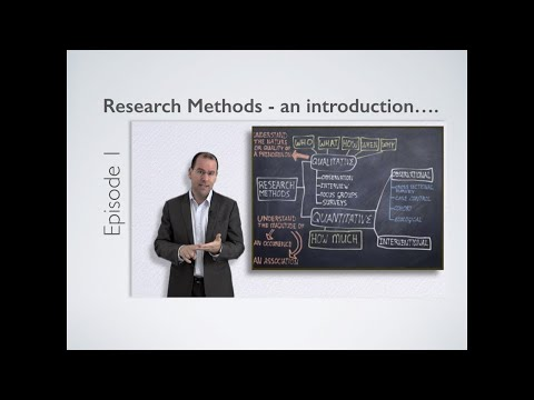 Research Methods – Introduction