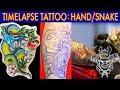 HAND/SNAKE TATTOO TIMELAPSE/LUCKY 13 TATTOO