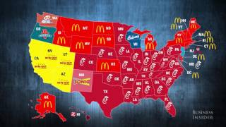 Most popular fast food restaurants in every state