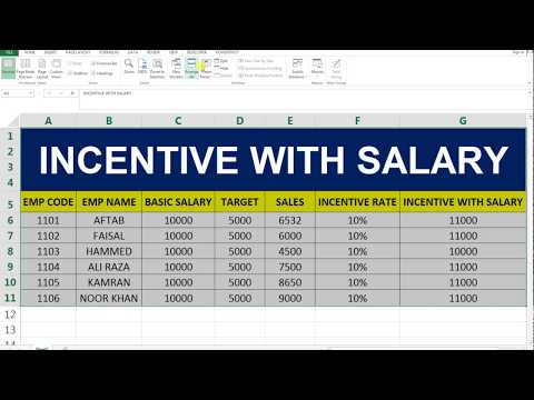 Incentive Calculate With Salary On MS Excel
