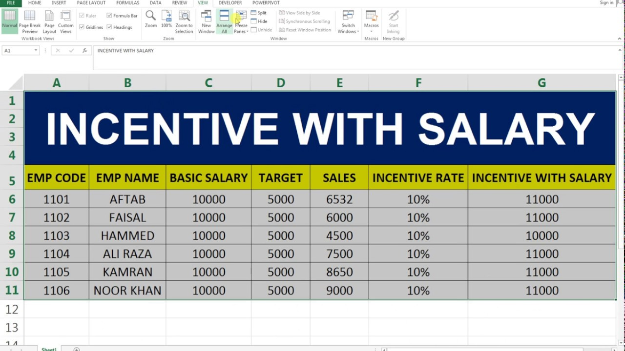 salary computation in excel format
