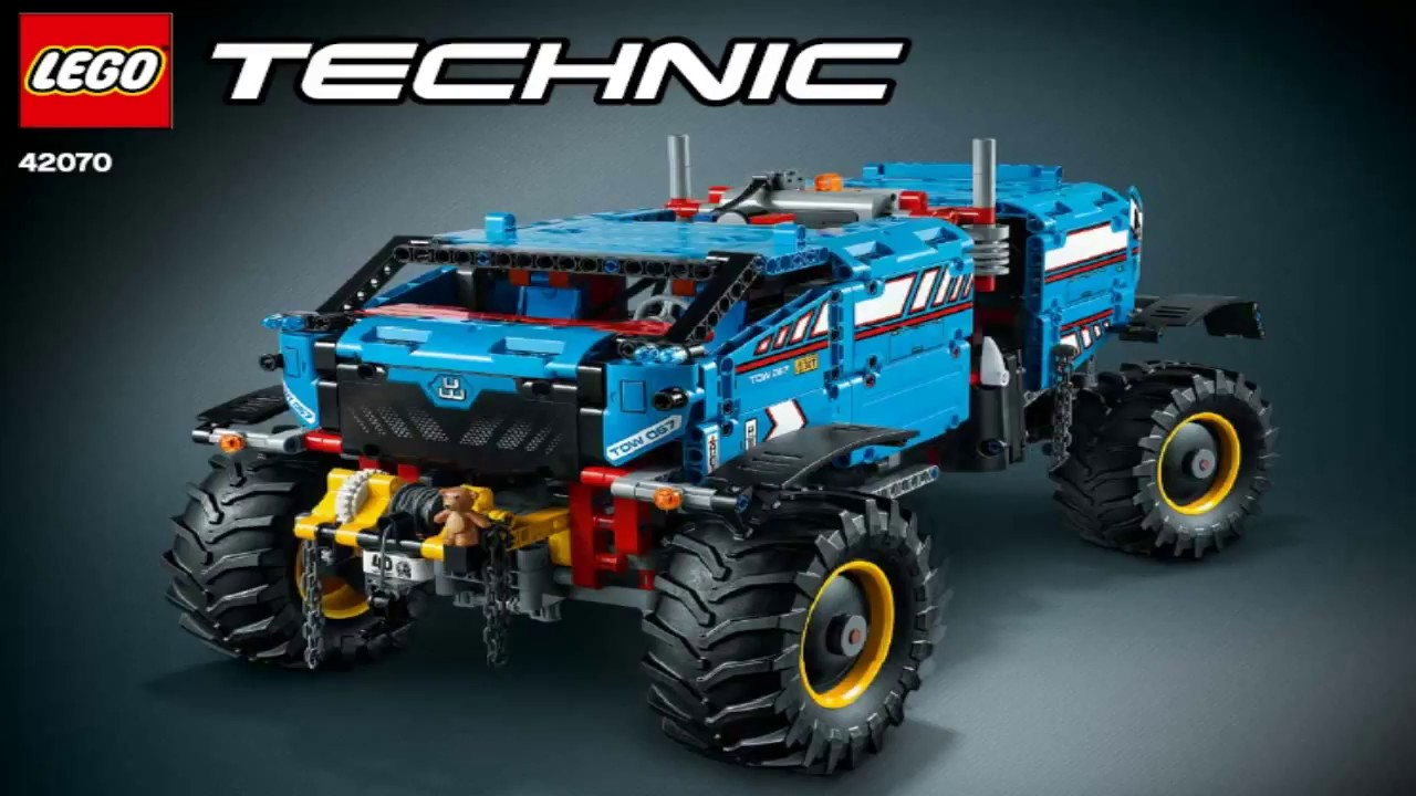lego technic 6x6 all terrain tow truck 42070 6 6 2 youtube. Black Bedroom Furniture Sets. Home Design Ideas