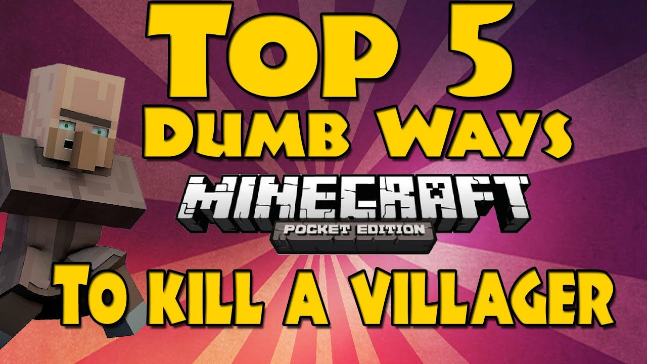 090 top 5 dumb ways to kill a villager minecraft pocket 090 top 5 dumb ways to kill a villager minecraft pocket edition youtube sciox Images