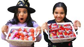 شفا حولت بيض المفاجات و حلوى السكيتلز !!