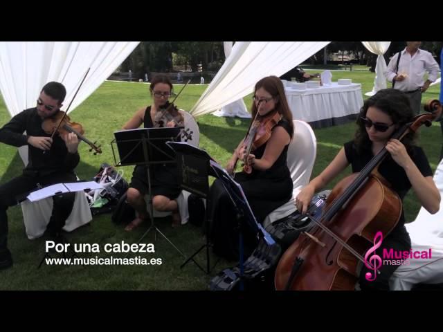 CASON DE LA VEGA SANTOMERA cuarteto Tango Por una cabeza Gardel Musical Mastia Wedding