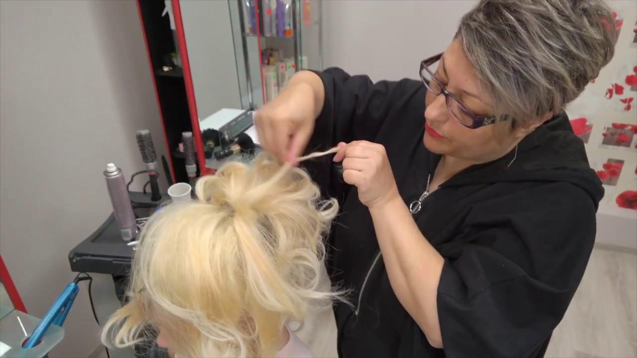 Coafura Mireasa Salon Cursuri Hairstyle Ym Galati Youtube