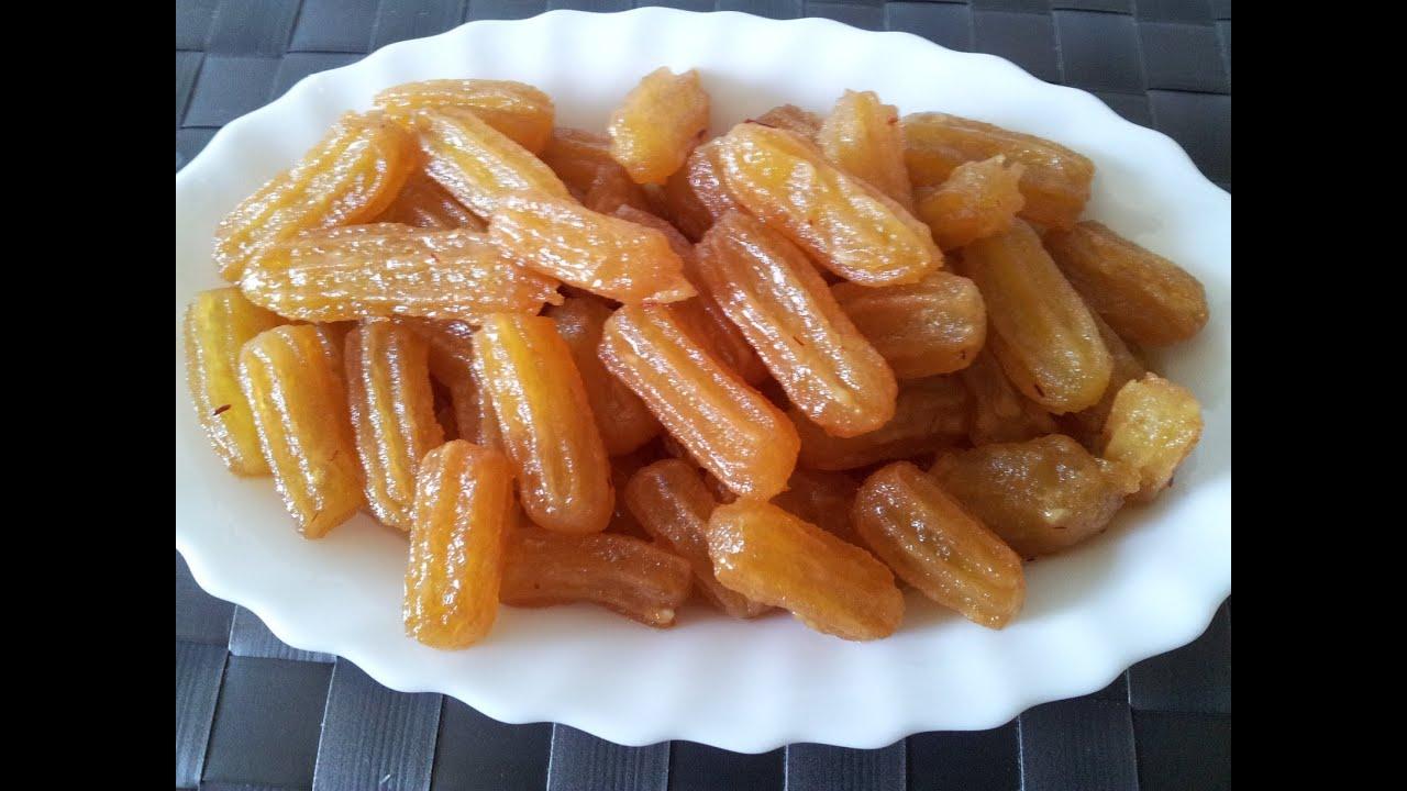 Bamieh Shirini recipe - طرز تهیه شیرینی بامیه