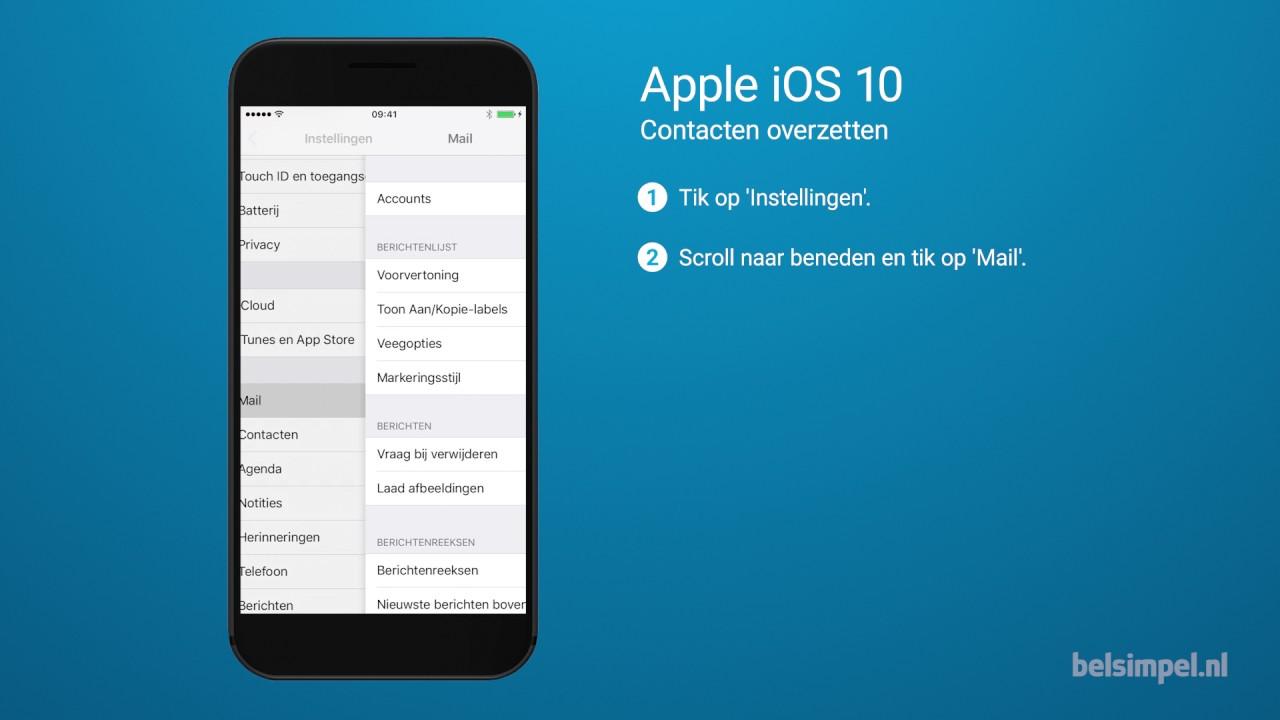 Contacten overzetten iphone naar samsung a5