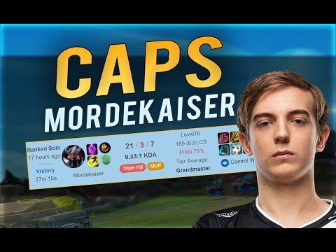 CAPS IS CRAZY WITH NEW MORDEKAISER | 20+ KILL GAME - Midbeast Review