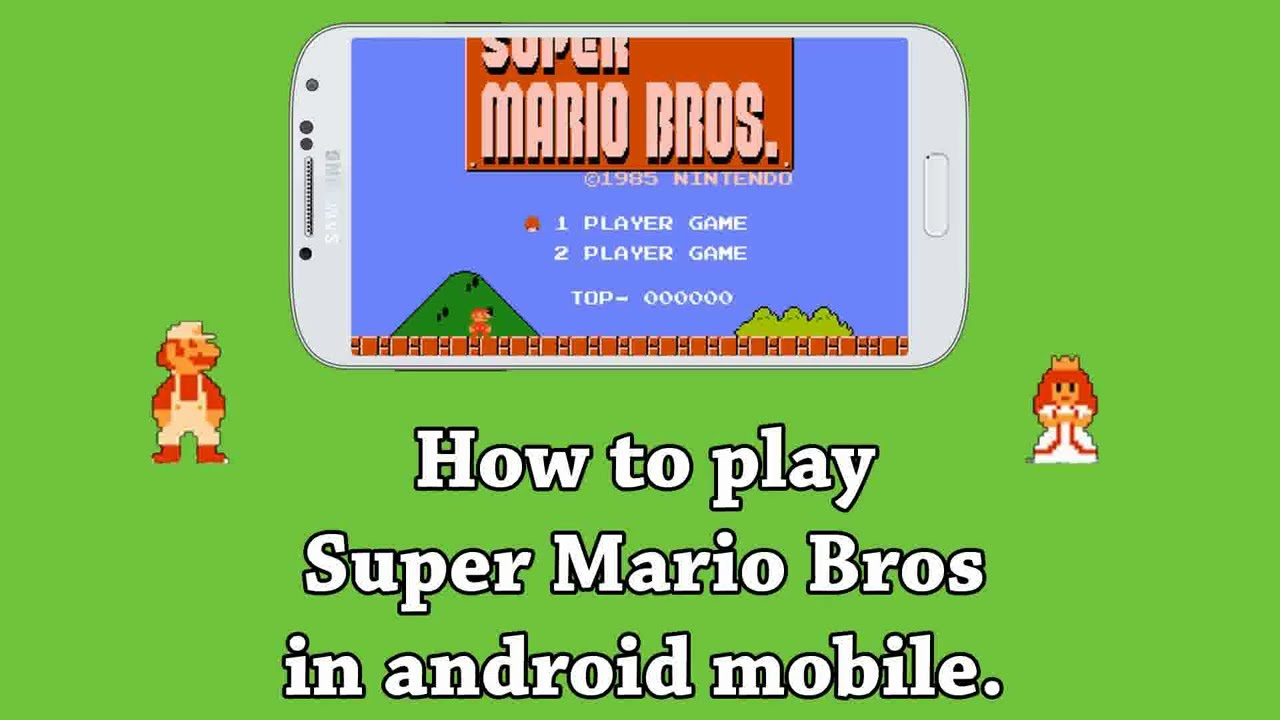 How to play Super Mario Bros on Android Mobile Phone