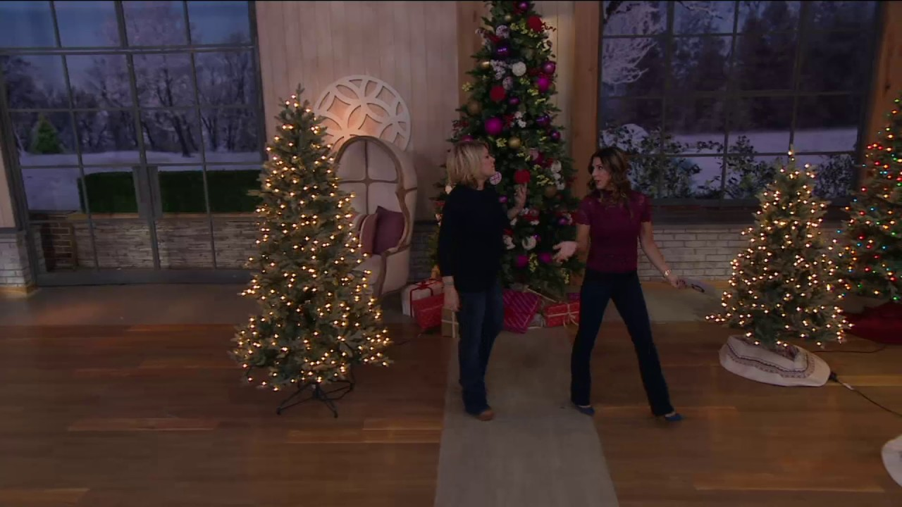 bethlehem lights prelit blue spruce christmas tree on qvc