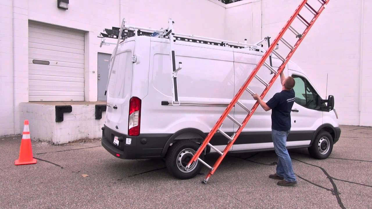 prime design s ergorack the drop down ladder rack for the ford transit