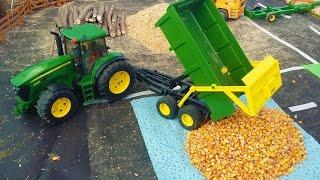 BRUDER TRACTOR RC John Deere and Combine Harvester