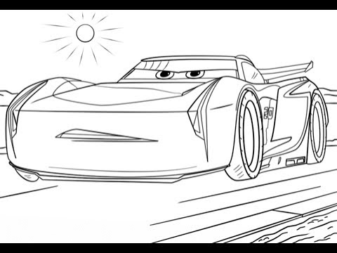 Cars 3 Jackson Storm New Best Coloring Book Video For Kids With