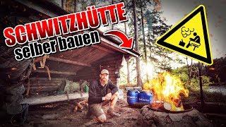 24H BIWAK - Schwitzhütte selber bauen - Bushcraft Survival Projekt - Overnighter Übernachtung