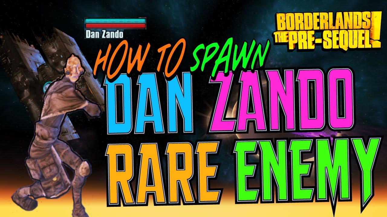 DAN ZANDO - Secret Enemy Spawning Guide (Borderlands the Pre