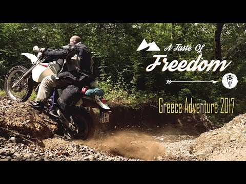 A TASTE OF FREEDOM: Greece 2017 (English) || DR 650 Enduro Motorcycle Adventure