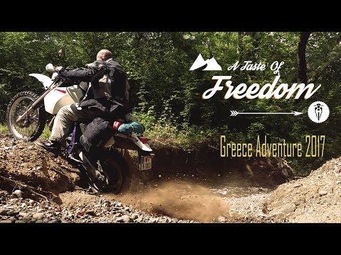 A TASTE OF FREEDOM: Greece 2017 (English) || DR 650 Enduro Motorcycle Adventure