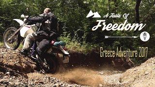 A TASTE OF FREEDOM: Greece 2017 (English)    DR 650 Enduro Motorcycle Adventure